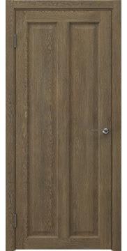 Межкомнатная дверь, FK007 (экошпон дуб антик, глухая)