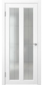 Межкомнатная дверь, FK007 (экошпон ясень белый, остекленная)
