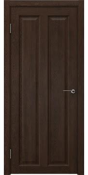 Межкомнатная дверь, FK007 (экошпон дуб шоколад, глухая)