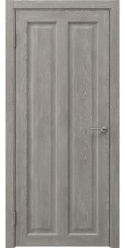 Межкомнатная дверь, FK007 (экошпон дымчатый дуб, глухая)