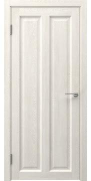 Межкомнатная дверь FK007 (экошпон «белый дуб» / глухая) — 0334