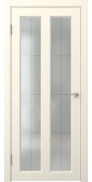 Межкомнатная дверь, FK007 (экошпон ваниль, остекленная)