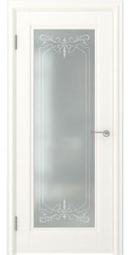 Межкомнатная дверь FK008 (экошпон «слоновая кость» / матовое стекло) — 0719