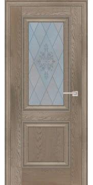 Межкомнатная дверь FK009 (экошпон «дуб английский бежевый» / матовое стекло) — 0723