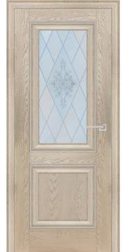 Межкомнатная дверь FK009 (экошпон «дуб английский кремовый» / матовое стекло) — 0725