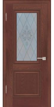 Межкомнатная дверь FK009 (экошпон «дуб английский темный» / матовое стекло) — 0729
