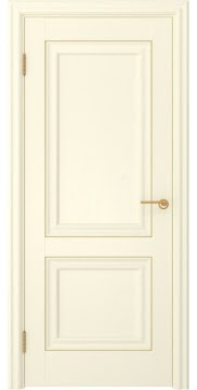 Межкомнатная дверь, FK009 (экошпон ваниль, глухая)