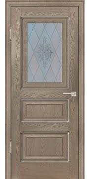 Межкомнатная дверь FK011 (экошпон «дуб английский бежевый» / матовое стекло) — 0741