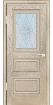 Межкомнатная дверь FK011 (экошпон «дуб английский кремовый» / матовое стекло) — 0743