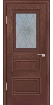 Межкомнатная дверь FK011 (экошпон «дуб английский темный» / матовое стекло) — 0747
