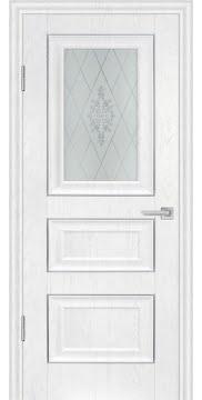Межкомнатная дверь FK011 (экошпон «ясень белый» / матовое стекло) — 0749