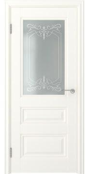 Межкомнатная дверь FK012 (экошпон «слоновая кость» / матовое стекло) — 0755