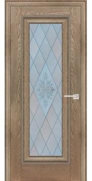 Межкомнатная дверь FK013 (экошпон «дуб английский бежевый» / матовое стекло) — 0705
