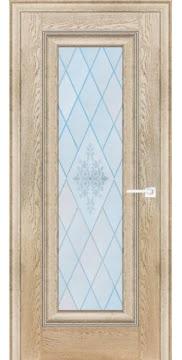 Межкомнатная дверь FK013 (экошпон «дуб английский кремовый» / матовое стекло) — 0707