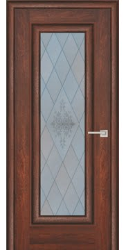 Межкомнатная дверь FK013 (экошпон «дуб английский темный» / матовое стекло) — 0711