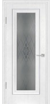 Межкомнатная дверь FK013 (экошпон «ясень белый» / матовое стекло) — 0713