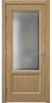 Дверь классика FK014 (шпон дуб натуральный, остекленная)