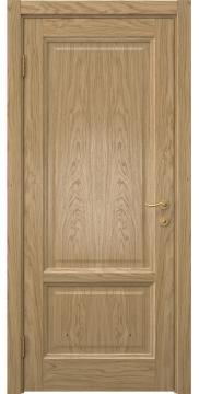 Шпонированная дверь, каркас из массива сосны и МДФ, FK014 (шпон натурального дуба, глухая)