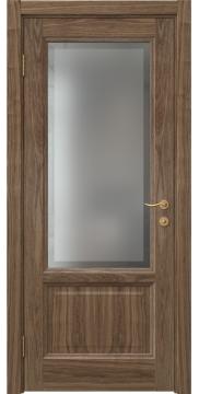 Межкомнатная дверь FK014 (шпон американский орех / стекло рамка) — 5146
