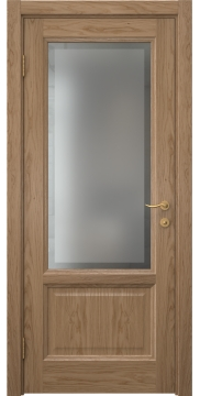 Межкомнатная дверь FK014 (шпон дуб светлый / стекло рамка) — 5143