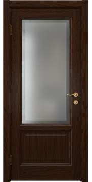 Межкомнатная дверь FK014 (шпон дуб коньяк / стекло рамка) — 5169