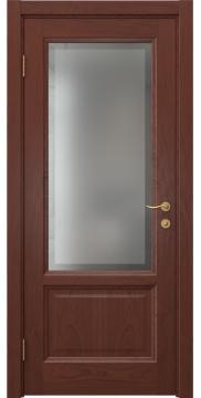 Межкомнатная дверь FK014 (шпон красное дерево / стекло рамка) — 5171