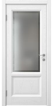 Межкомнатная дверь FK014 (шпон ясень белый / стекло рамка) — 5174