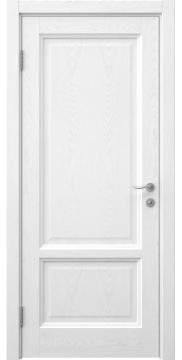 Межкомнатная дверь, FK014 (шпон белый ясень, глухая)
