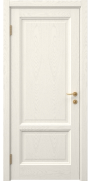 Дверь в стиле классик, FK014 (шпон ясень слоновая кость, глухая)