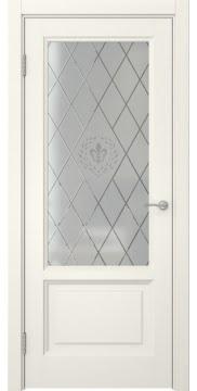 Межкомнатная дверь FK014 (эмаль слоновая кость / стекло с гравировкой) — 5133