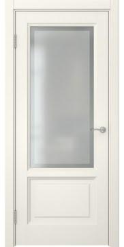 Межкомнатная дверь FK014 (эмаль слоновая кость / стекло рамка) — 5173