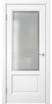 Межкомнатная дверь, FK014 (эмаль белая, остекленная)
