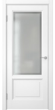 Межкомнатная дверь FK014 (белая эмаль / стекло рамка) — 5172
