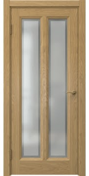 Межкомнатная дверь, FK015 (шпон дуб натуральный, остекленная)