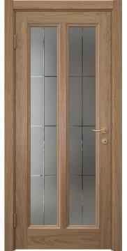 Межкомнатная дверь FK015 (шпон дуб светлый / стекло решетка) — 5165