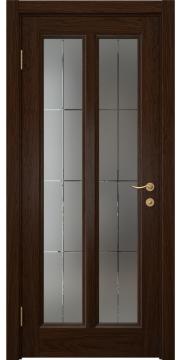 Межкомнатная дверь FK015 (шпон дуб коньяк / стекло решетка) — 5151