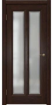 Дверь классика FK015 (шпон дуб коньяк, остекленная)