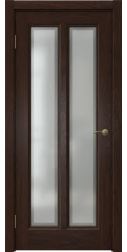 Межкомнатная дверь, FK015 (шпон дуб коньяк, остекленная)