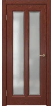Межкомнатная дверь FK015 (шпон красное дерево / стекло рамка) — 5178