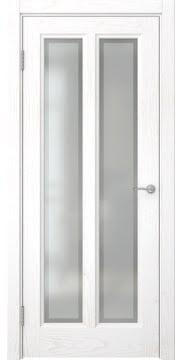Межкомнатная дверь, FK015 (шпон белый ясень, остекленная)