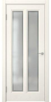 Межкомнатная дверь FK015 (шпон ясень слоновая кость / стекло рамка) — 5182