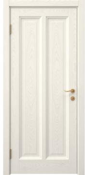Межкомнатная дверь FK015 (шпон ясень слоновая кость / глухая) — 5159