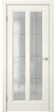 Межкомнатная дверь FK015 (эмаль слоновая кость / стекло решетка) — 5168