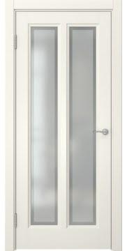 Межкомнатная дверь, FK015 (эмаль слоновая кость, остекленная)