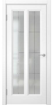 Межкомнатная дверь, FK015 (эмаль белая, матовое стекло)
