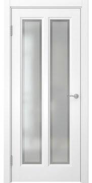 Межкомнатная дверь, FK015 (эмаль белая, остекленная)
