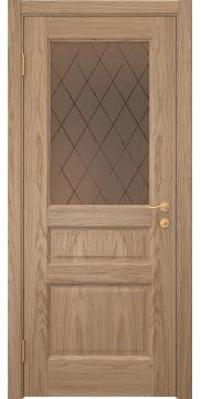 Межкомнатная дверь FK016 (шпон дуб светлый / стекло рамка) — 5155