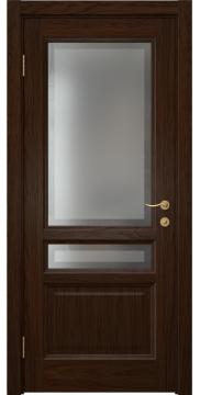 Межкомнатная дверь FK016 (шпон дуб коньяк / стекло рамка) — 5194