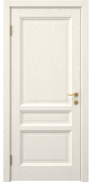Дверь FK016 (шпон ясень слоновая кость, глухая)