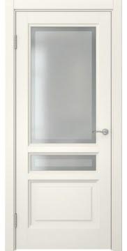 Межкомнатная дверь, FK016 (эмаль слоновая кость, остекленная)